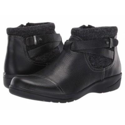 Clarks クラークス レディース 女性用 シューズ 靴 ブーツ アンクル ショートブーツ Cheyn Kisha Black Tumbled【送料無料】