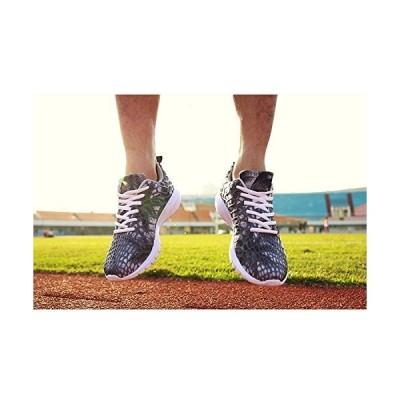 シュベック ランニングシューズ ウォーキングシューズ スニーカー メンズ レースアップシューズ ネオンカラー 総柄 シューズ ローカット 靴