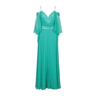 ATELIER NICOLA D'ERRICO ロングワンピース&ドレス グリーン 42 シルク 100% ロングワンピース&ドレス