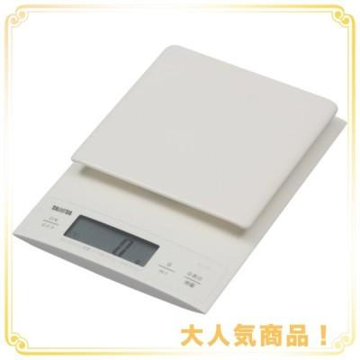 タニタ クッキングスケール キッチン はかり 料理 デジタル 3kg 0.1g単位 ホワイト KD-320 WH