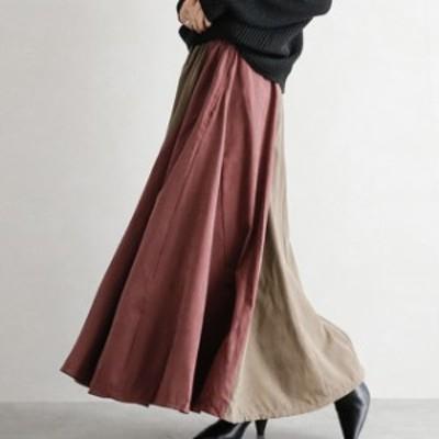 スカート 春 ロングスカート レディース スカート ボトムス マキシ丈 ロング丈 切り替え 体型カバー 可愛い おしゃれ ファッション 通勤