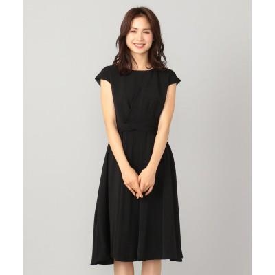 any FAM 【セレモニー】アシンメトリータック ドレス (ブラック系)