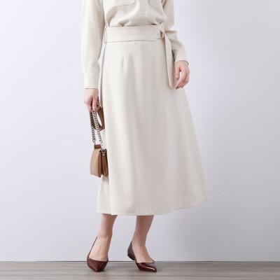 アマカ AMACA ウールライクサキソニースカート (オフホワイト)