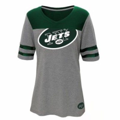 Outerstuff アウタースタッフ スポーツ用品  New York Jets Juniors Heathered Gray/Green Football T-Shirt