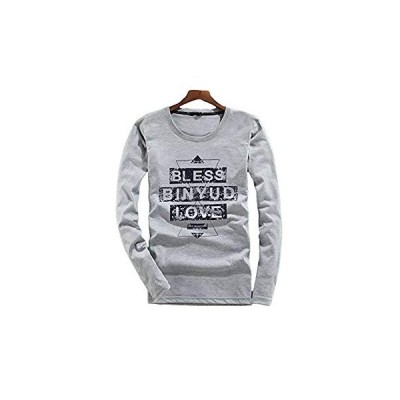 CHROME CRANE(クロム クレイン) メンズ 長袖 BLESS 英字 プリント Tシャツ アメカジ ヴィンテージ風 ロゴ T LPT