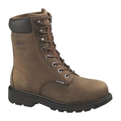 ウルヴァリン ブーツ&レインブーツ シューズ メンズ Wolverine Men's McKay EH Steel Toe Lace Up Work Boots Brown