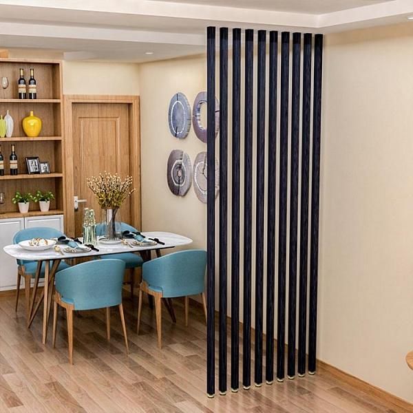 新中式實木條格柵辦公室餐廳客廳房間立柱裝飾玄關豎條屏風隔斷墻【頁面價格是訂金價格】