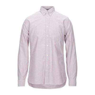 XACUS ストライプ柄シャツ  メンズファッション  トップス  シャツ、カジュアルシャツ  長袖 パステルピンク