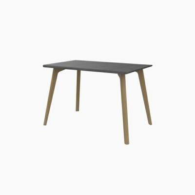 送料無料 ダイニングテーブル (W1100 天板:ミッドグレー 脚:ピーチ) - CROSS