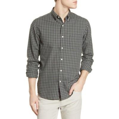 ファエティ シャツ トップス メンズ Everyday Check Button-Down Shirt Olive Black Gingham
