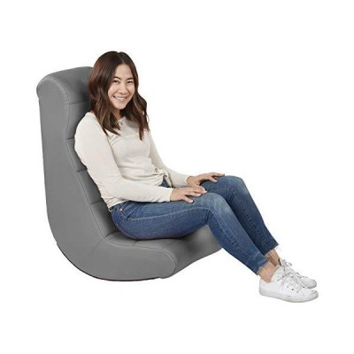 Soft Ergonomic Horizontal Soft Video Rocker - Great for Reading, Gaming, Meditating, or TV for Kids Teens and Adults - Gray