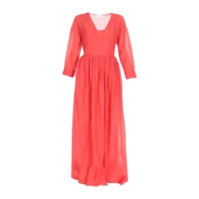 ジャッカ JUCCA ロングワンピース&ドレス レッド 42 コットン 70% / シルク 30% ロングワンピース&ドレス
