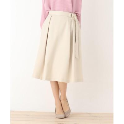 SHOO・LA・RUE/DRESKIP(シューラルー/ドレスキップ) 前タック共ベルト付スカート
