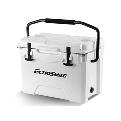 特別価格EchoSmile 25 Quart White Rotomolded Cooler, Portable Ice Chest Cooler with 好評販売中