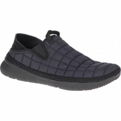 メレル Merrell レディース スリッポン・フラット シューズ・靴 Hut Moc Slip On Triple Black Quilted Nylon