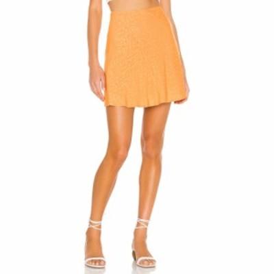 ラヴァーズフレンズ Lovers + Friends レディース ミニスカート スカート Chloe Mini Skirt Tangerine Orange