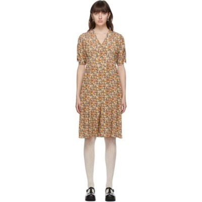 グッチ Gucci レディース ワンピース ワンピース・ドレス Multicolor Liberty London Edition Silk Garden Print Dress Flame