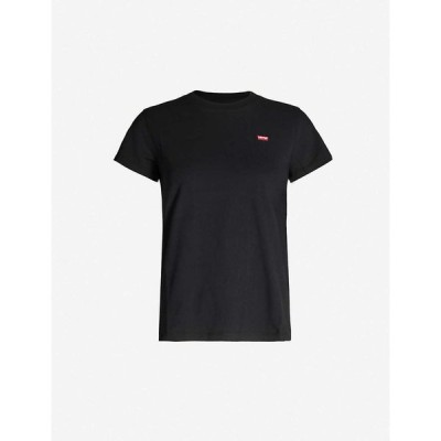 リーバイス LEVIS レディース Tシャツ トップス The Perfect cotton-jersey T-shirt Mineral Black