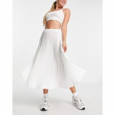 フレンチコネクション French Connection レディース ひざ丈スカート プリーツスカート スカート pleated midi skirt in white ホワイト