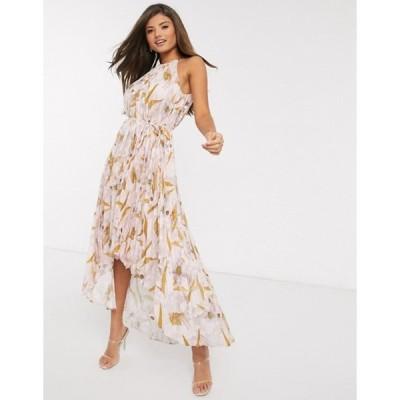 テッドベーカー レディース ワンピース トップス Ted Baker dixxie pleated floral midi dress