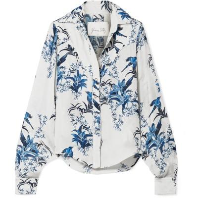 JOHANNA ORTIZ シャツ ライトグレー 0 シルク 100% シャツ