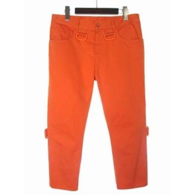 【中古】未使用品 MM6 メゾンマルジェラ Maison Margiela パンツ 42 L オレンジ テーパード コットン 52LA0043 44670 17SS