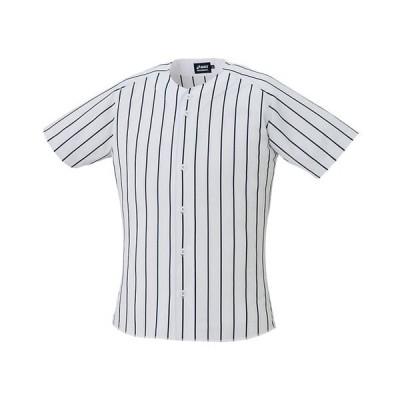 ストライプゲームシャツ (ホワイト×ネイビー) ASICS アシックス (2121A152)