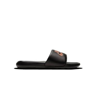 ナイキ スニーカー シューズ レディース Women's Victori One Slide Sandals from Finish Line Black, Metallic Red Bronze