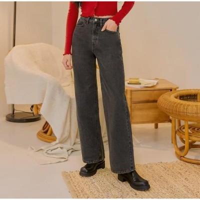 common unique レディース ジーンズ Mid Rise Wide-Leg Denim Pants