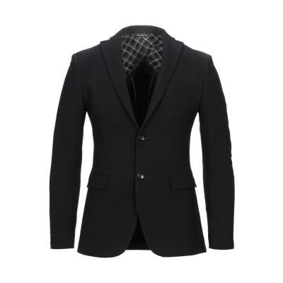 トネッロ TONELLO テーラードジャケット ブラック 46 バージンウール 96% / カシミヤ 3% / ポリウレタン 1% テーラードジャケ