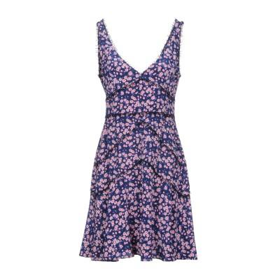 ディースクエアード DSQUARED2 ミニワンピース&ドレス ダークブルー 38 100% シルク ナイロン ミニワンピース&ドレス