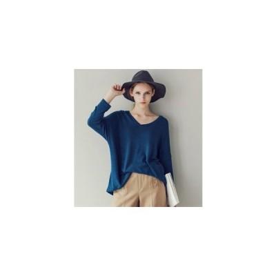 カットソー レディース 長袖 Tシャツ 無地 秋物 トップス ドルマンスリーブ ゆったり 体型カバー 大きいサイズ 20代¥/30代¥/40代50代