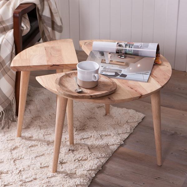 自然簡約生活二用圓形邊桌