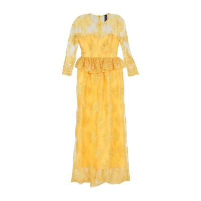 NORA BARTH ロングワンピース&ドレス イエロー 46 ポリエステル 100% ロングワンピース&ドレス