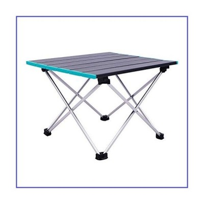 QERNTPEY Picnic Table Outdoor Camping Folding Table Ultra-Light Portable Aluminum Barbecue Table for Home Easy Assembly (Color : Black, Size