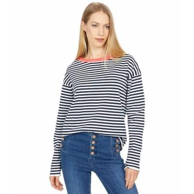マイケルスターズ ニット&セーター アウター レディース Ringer Pullover Contrast Neck Sweater Admiral/Fresco