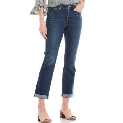 エヌワイディージェイ レディース デニムパンツ ボトムス Sheri Embroidery Heart Back Pocket Detail Slim Straight Leg Ankle Jeans Reverence