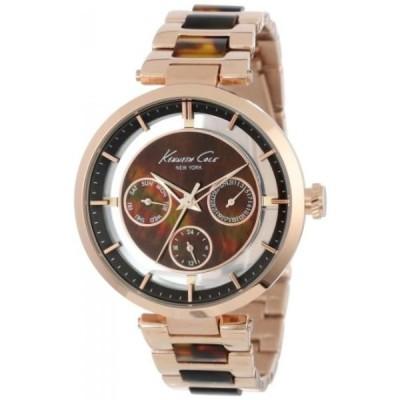 ケネスコール 腕時計 レディースウォッチ Kenneth Cole New York Multifunction Metal and Brown Marble Link Strap Women's watch #KC4929