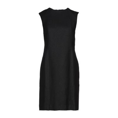 CA' VAGAN ミニワンピース&ドレス ブラック M ウール 96% / 金属繊維 4% ミニワンピース&ドレス