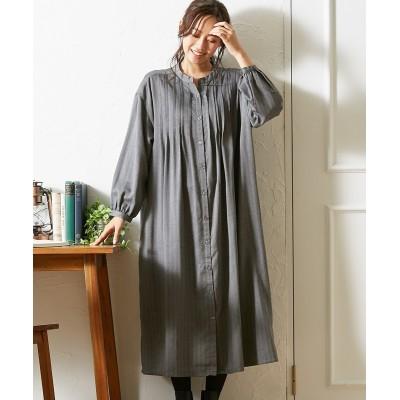 ピンタックシャツワンピース (ワンピース)Dress