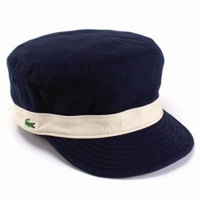帽子 メンズ キャップ メンズ リバーシブルワークキャップ ラコステ コットン素材 ネイビー カーキ