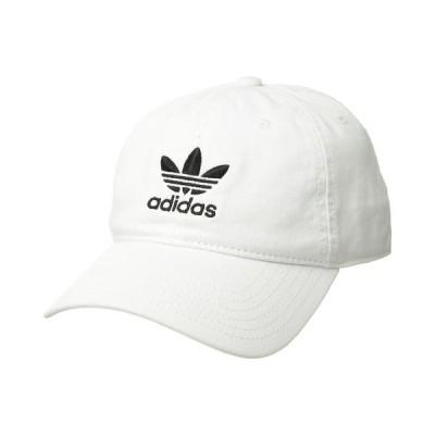 アディダス adidas Originals メンズ キャップ スナップバック 帽子 Originals Relaxed Strapback Hat White/Black