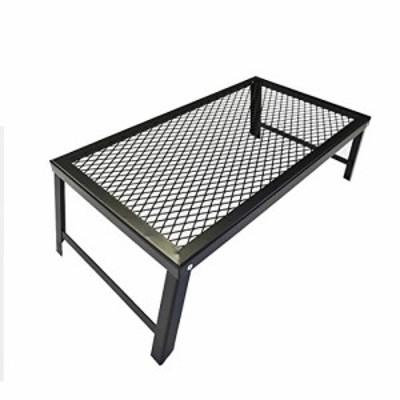 【新品・送料無料】SWAG GEAR メッシュテーブル スチールテーブル 焚き火テーブル 折りたたみ 軽量 携帯便利 アウトドア用(横穴)