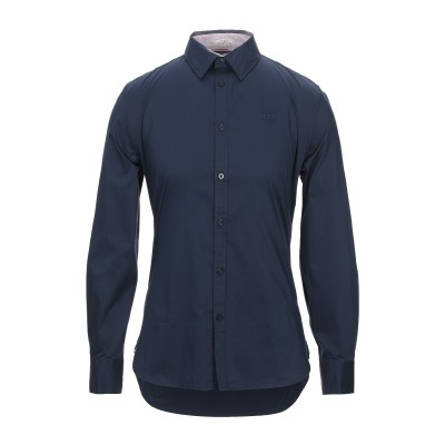 ゲス GUESS シャツ ダークブルー XS コットン 75% / ナイロン 22% / ポリウレタン 3% シャツ