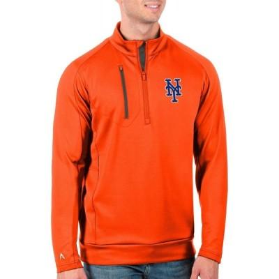 アンティグア Antigua メンズ トップス Tall New York Mets Generation Royal Half-Zip Shirt