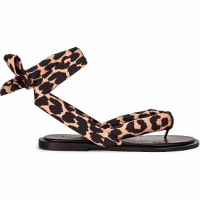 ガニー Ganni レディース サンダル・ミュール シューズ・靴 recycled tech fabric sandals Leopard