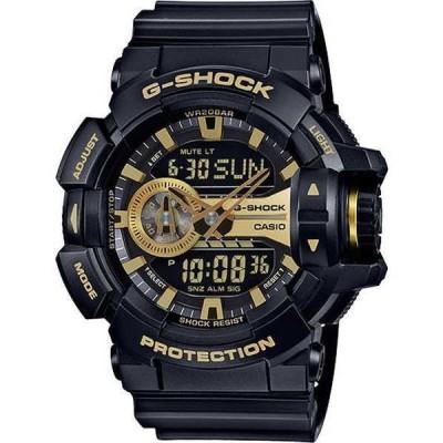 腕時計 カシオ Casio GA400GB-1A9 メンズ Garish Rotary Ana-Digi アラーム クロノグラフ ブラック Gショック 腕時計