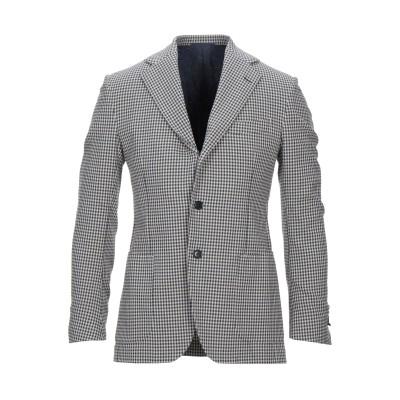 DE PETRILLO テーラードジャケット ダークブルー 46 コットン 99% / ポリウレタン 1% テーラードジャケット