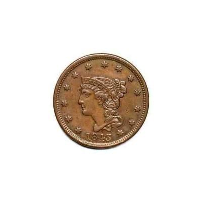 金貨 銀貨 硬貨 シルバー ゴールド アンティークコイン 1843 N-2 Petite Head Braided Hair Large Cent C