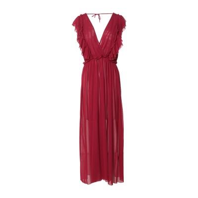 FISICO ロングワンピース&ドレス ガーネット M ナイロン 92% / ポリウレタン 8% ロングワンピース&ドレス